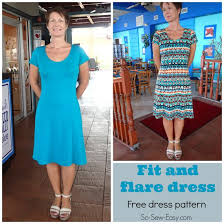 Fit And Flare Dress Pattern New Fit And Flare Dress Free Pattern So Sew Easy