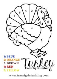 Simple Free Printable Thanksgiving Coloring Pages Free Printable Free Printable Thanksgiving Color By Number PageslL