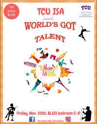 Talent Show Poster Designs What2do Tcu Worlds Got Talent