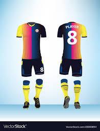 How To Design Football Jersey Uniform Football Design Color Template