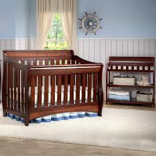 delta bentley 2 piece nursery set convertible crib and changing table in black cherry espresso free