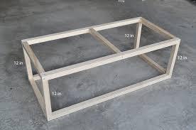 attractive coffee table frame industrial little glass jar only metal supplier plan kit ikea diy leg
