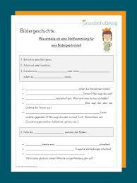 Bildergeschichten mit arbeitsblättern und tipps kostenlos ausdrucken für klasse 2, klasse 3, klasse 4 und klasse 5. Bildergeschichte