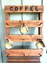 mug wall rack coffee cup wa diy