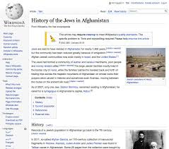 Wikipedia History Of The Jews In Afghanistan Bf Jewish