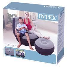 intex inflatable lounge chair. Intex Ultra Lounge Chair Ottoman 2 In 1 (Black Grey) Sofa Santai Angin Inflatable F