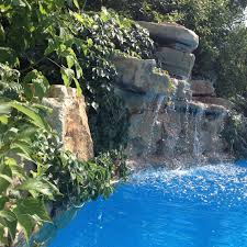inground pools with waterfalls and hot tubs. When Designing Rocks And Waterfalls Around The Pool A Forgotten Detail Is Often Inground Winter Cover. Pools With Hot Tubs