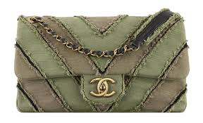 chanel bags 2017 collection. chanel cuba khaki patchwork toile bag with a cc lock bags 2017 collection