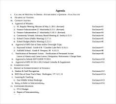 Sample Of Agenda Agenda Example Magdalene Project Org