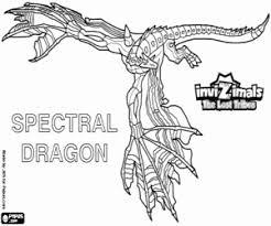 Kleurplaat Spectral Dragon Invizimals Lost Tribes Kleurplaten
