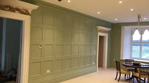 dining room wall panelling wood