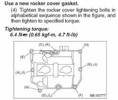 Valve Cover Gasket Follow This Picture When Tightening Down
