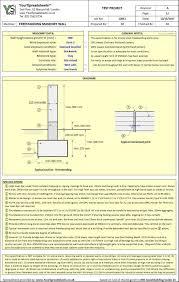 masonry spreadsheets freestanding walls