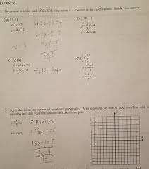 To solve using substitution, follow these four steps: Systems Of Linear Equations Common Core Algebra 2 Homework Answer Key Tessshebaylo