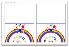free printable invitation cards for birthday party for kids rainbow party decorations fun diy parties and themes
