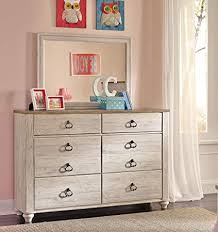 white washed wood dresser. Wonderful Washed Willannet Casual Whitewash Color Wood Dresser And Mirror Intended White Washed E
