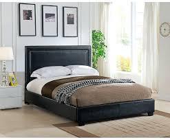 Black Upholstered Platform Bedroom Set Bed Leather – stereotips