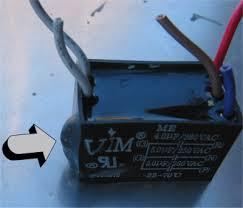 blown ceiling fan capacitor module