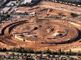 Cupertino apple office Apple Ring Apple Campus Begins To Rise From The Ground In Cupertino Daily Mail Apple Campus Begins To Rise From The Ground In Cupertino Daily