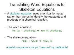 translating word equations to skeleton equations