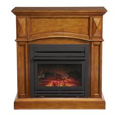 pleasant hearth 35 75 in dual burner vent free heritage oak corner liquid propane