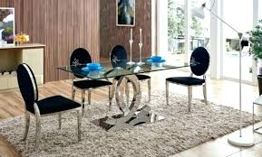 modern glass dining table set chairs and leather round for 6 sets toronto
