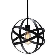 High Quality KingSo Industrial Metal Pendant Light, Spherical Ceiling Light Globe Hanging  Light Fixture For Kitchen Island