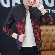 2018 Spring <b>Autumn Casual</b> Solid Fashion Slim Bomber Jacket <b>Men</b> ...