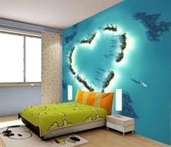 heart island love paradise 3d full wall