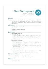 Contemporary Resume Templates Modern Template Cv Free Pdf