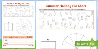 Pie Chart Activities Worksheets Summer Themed Holiday Pie Chart Worksheet