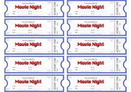Free Printable Movie Tickets Template Popisgrzegorz Com