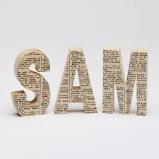 dictionary decorative wooden letter gift for him personalised name