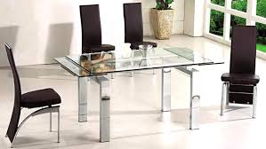 Expandable Glass Dining Room Tables Interior Unique Inspiration