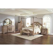 Coaster 5 Piece King Mirrored Canopy Bedroom Set Mirrored Canopy Bed ...