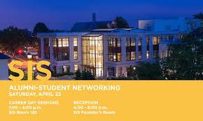 university career center sis alumni student networking reception 22 2017