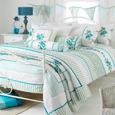 riva home appleby romany fl duvet cover set white green super king
