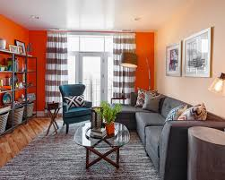 Home  Gray And Orange Living Room. Everybody had hopes of getting luxuries  desire house as well as great although together with minimal cash in  addition to ...