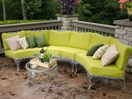 patio set fully re done curved seating set with new cushions and pillows