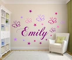 Wandtattoo Kinderzimmer Namen M Schmetterlingensternen Baby