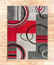 red area rugs 5x7 sweet home collection medallion design red 5 ft x 7 ft indoor