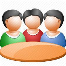 business meeting communication conference connection people round table training icon