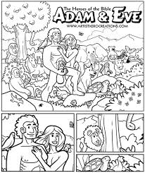 Small Picture Adam Eve coloring page the squirrels position is