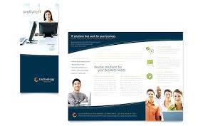 Technical Brochure Template Technology Software Product Free ...