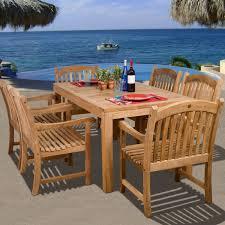 kitchen new teak outdoor dining table design amazing 5 broyhill