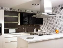 Grey And Black Flower Motif Wallpaper For Backsplash Floating Shelves Black  Glass Door Wall Cabinet White