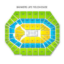 Bankers Life Seating Chart Bankers Life Fieldhouse Seating Map Bankers Life Seating Map