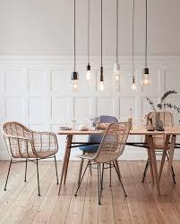 scandinavian lighting. 77 Gorgeous Examples Of Scandinavian Interior Design -dining-room-with-minimalist-light-feature Lighting B