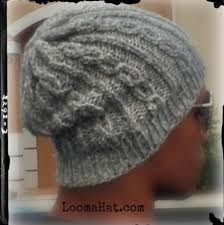 Loom Hat Patterns Delectable Loom Knit Slouchy Hat Free Pattern Chain Links By LoomaHat On