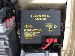 chrysler sebring overheating fan will not come on how to squeeze in the tabs on the side and lift off the fuse box cover